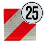 Warntafeln, Folien und Geschwindigkeitsschilder